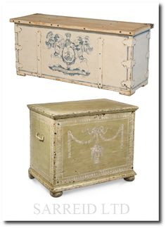 Blanket Chest & Apothecary Chest from Sarreid LTD