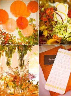 Fall wedding decor with a modern flair