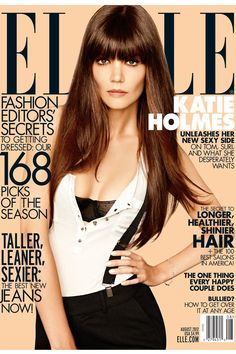 Katie Holmes shines on the cover of ELLE's August issue