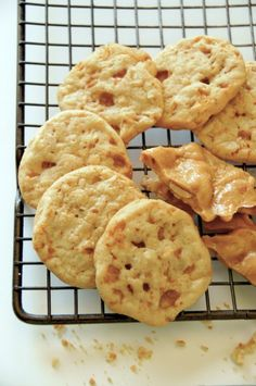 Peanut brittle cookies. I've just about mastered my brittle recipe. Next time, I need to make cookies with them!