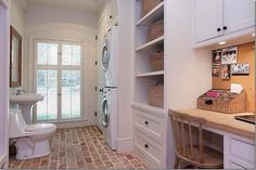 3 rooms in one:  laundry  powder room  office