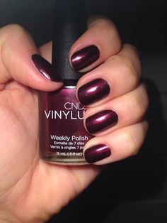 Officially obsessed with @Christine Caswell Vinylux. It wears so well! Color: Dark Lava #cndvinylux #fall #nails #nailpolish