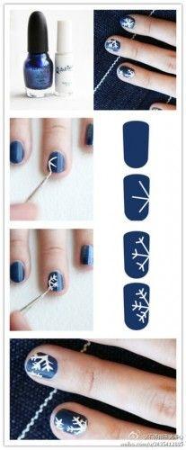 holiday, nail art tutorials, nail polish, flake, nail art designs, christmas nails, nail arts, winter nails, snowflak