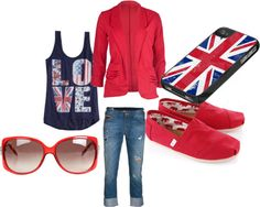 """Brittish American"" by rylenlemons on Polyvore"