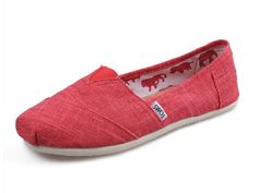 Cheap Red Toms women shoes slubbed fabric on sale [Toms Shoes Outlet 1004] - $19.00 : Toms Outlet, Toms Shoes, Toms Shoes Outlet, Toms Shoes Sale