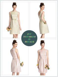 REVEL: 57Grand Bridesmaid Brocade Dresses
