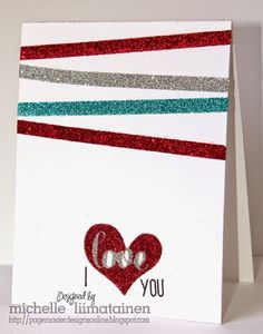 Page Master Designs Online: I love you Card made with my Silhouette and the PixScan mat!