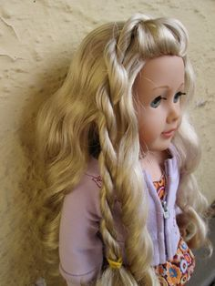 Side Swept Twists diy American Girl doll hairstyle tutorial