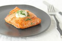 Baked miso salmon for two