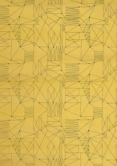 "vjeranski:      ""Graphica"" is a furnishing fabric sample from British textile design maven Lucienne Day for Heal's. 1954, from The Fifties."