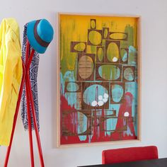 Squeegee artwork on the wall