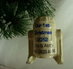 Star Wars R2D2 Our 1st Christmas Ornament 2012 by aphroditescanvas, $28.00