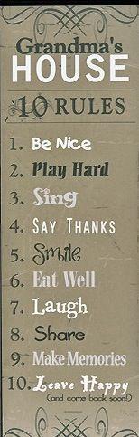 Grandmas rules