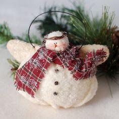 Snowman Angel Ornament