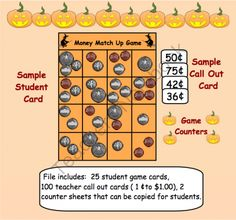 Halloween Money Match Up Game in PDF format from Teaching The Smart Way on TeachersNotebook.com (30 pages)