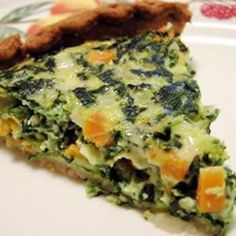 Spinach and Carrot Quiche