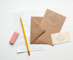 personal stationary & business cards with rubber stamps