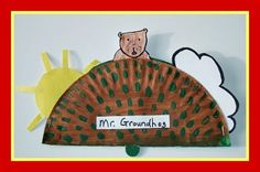 Groundhog Paper Plate Craft and Seasons Song from Kiboomu