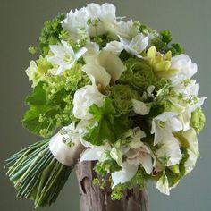 Eucharis lilies, mini calla lilies, sweetheart roses, etc...