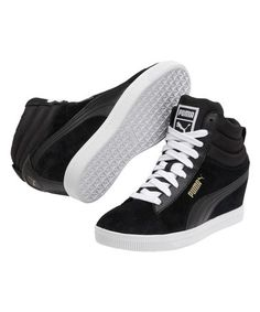 Another great find on #zulily! Black Puma Classic Wedge Sneaker #zulilyfinds