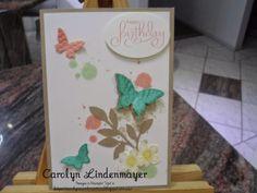 Carolyn's Card Creations: Butterfly Grunge Birthday Card