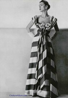 Mme Gres gown, 1953 Couture Allure Vintage Fashion