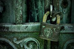 patina, verdigri, lock, gate