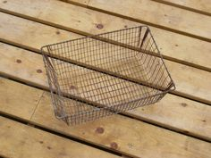 SHABBY cottage chic WIRE BASKET vintage wire basket by COTTAGEGOLD, $38.00