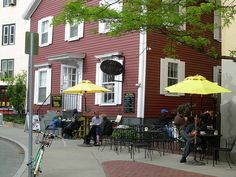 Cafe Pamplona on Bow Street in Harvard Square.