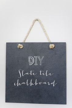 DIY Chalkboard sign.