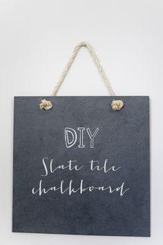DIY: slate tile chalkboard