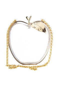 Lucite apple purse by lena erziaks
