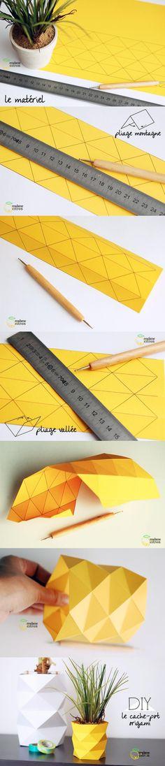 Decoración de macetas con origami