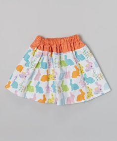 Love this Orange Bunny Skirt - Infant, Toddler & Girls on #zulily! #zulilyfinds