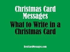 Oh, it's beginning to look a lot like Christmas card time again! #Christmas #messages #cards