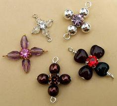 Cross Links - #wire #jewellry #tutorial Wire Jewelry, Beading Patterns, Jewelry Tutorials, Make Jewelry, Crosses Links, Links Tutorials, Wild Rose, Jewelry Ideas, Handmade Jewelry