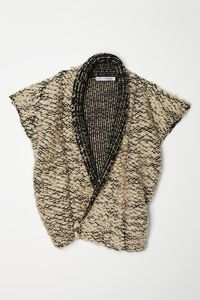Image of Knit-Weave Vest - Black