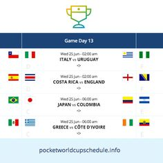 Never miss a World Cup game with this simple, yet effective #website.
