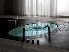 In ground bath tub