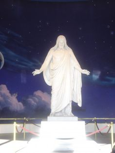 Christus statue on Temple Square where I served my mission.