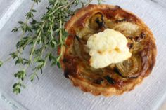 Caramelized Onion Tart with Thyme and Chevre