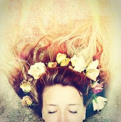 I'd rather wear flowers in my hair than diamonds around my neck.