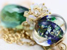 oOo SALE oOo  60 off  Glass Lampwork Gemstone by JewelsByLDesigns, $93.00
