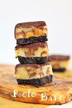 Homemade Oreo crust, Rolo candies, caramel and chocolate ganache – it's a chocolate caramel heavenly delight