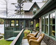 screen porches, cabin, lake houses, house design, cottag, dream, lake homes, deck, screened porches