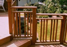 railing design | Wood Porch Railing