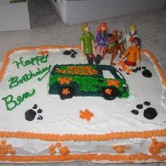 ... Scooby-Doo cake was made with Rick's Special Buttercream Frosting