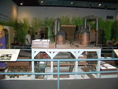 This mill model was built for the 1904 Worlds Fair and shows the production of sugar at that time.