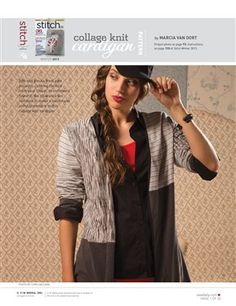 Pattern: Collage Knit Cardigan - Media - Sew Daily