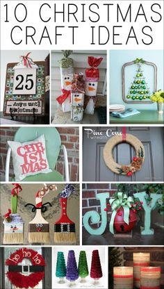 10 christmas craft ideas @Melissa Squires Squires Squires Kohagen @Kristina Kilmer Kilmer Kilmer Taylor